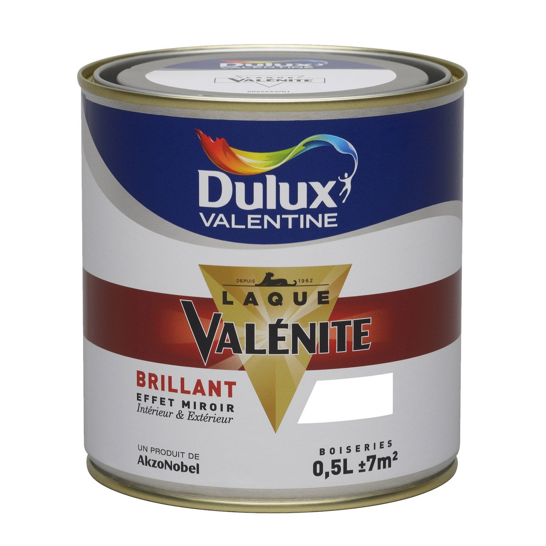 Peinture blanc brillant DULUX VALENTINE Valénite 0.5 l | Leroy Merlin