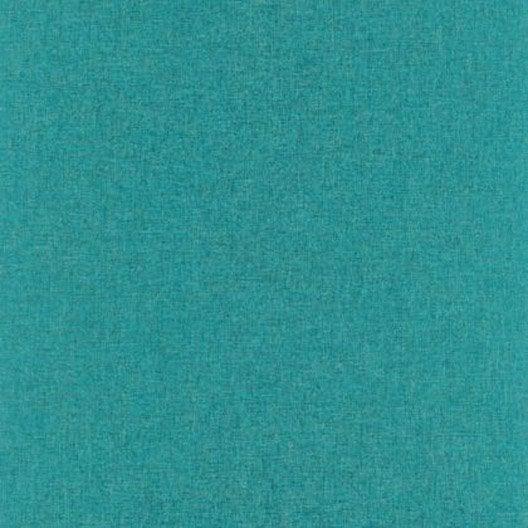 Papier peint uni turquoise fonc intiss linen leroy merlin - Papier peint uni ...