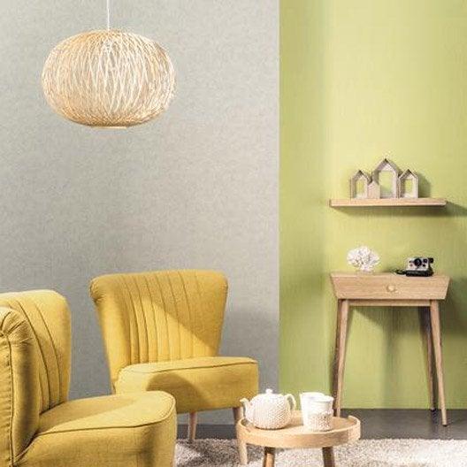 papier peint kim vert anis iris intiss trio leroy merlin. Black Bedroom Furniture Sets. Home Design Ideas