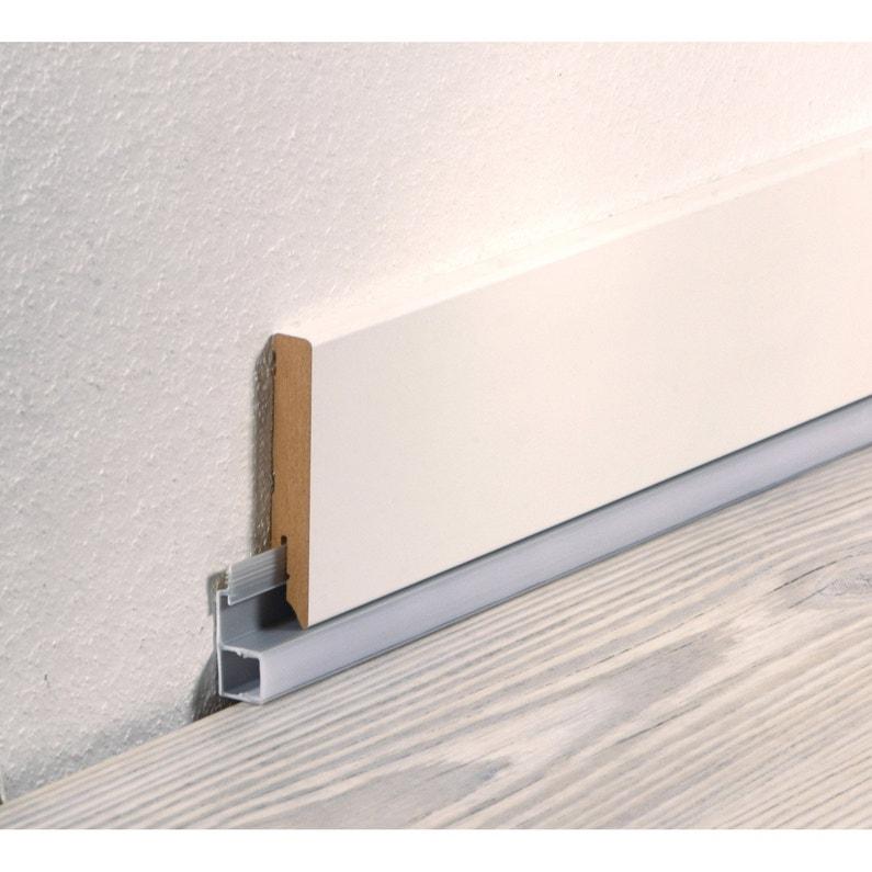 Plinthe Decorative rail pvc pour plinthe à led 16.5x42.1mm l 2.40m | leroy merlin