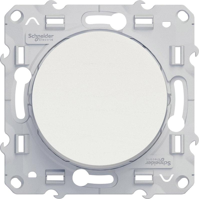 Interrupteur Va Et Vient Odace Schneider Electric Blanc