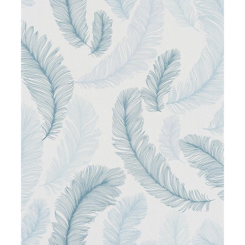Papier Peint Intisse Reflect Bleu Leroy Merlin