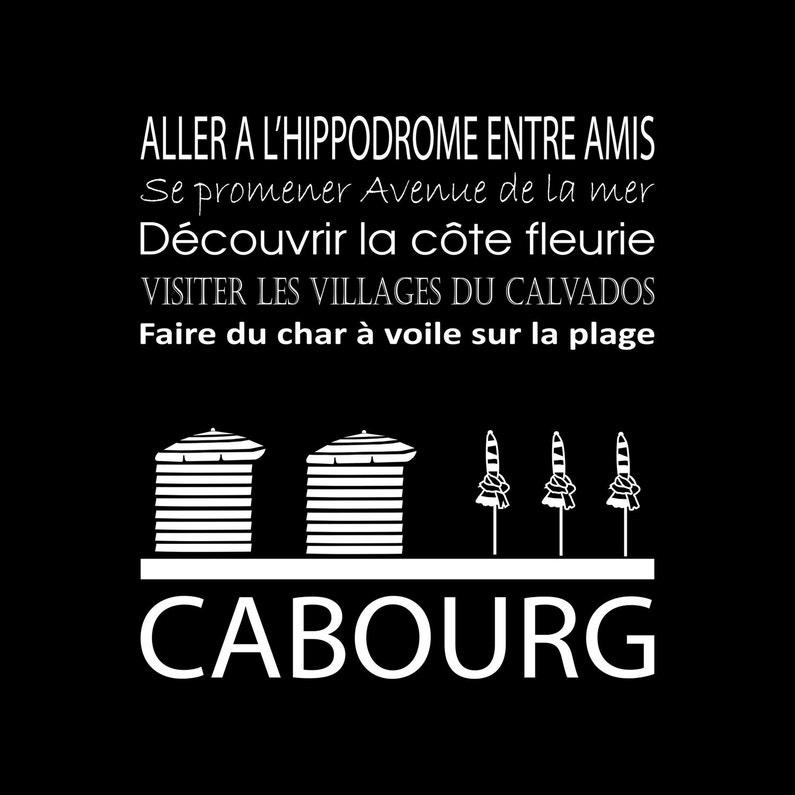 Toile Imprimée Cabourg Noir Artis L30 X H30 Cm