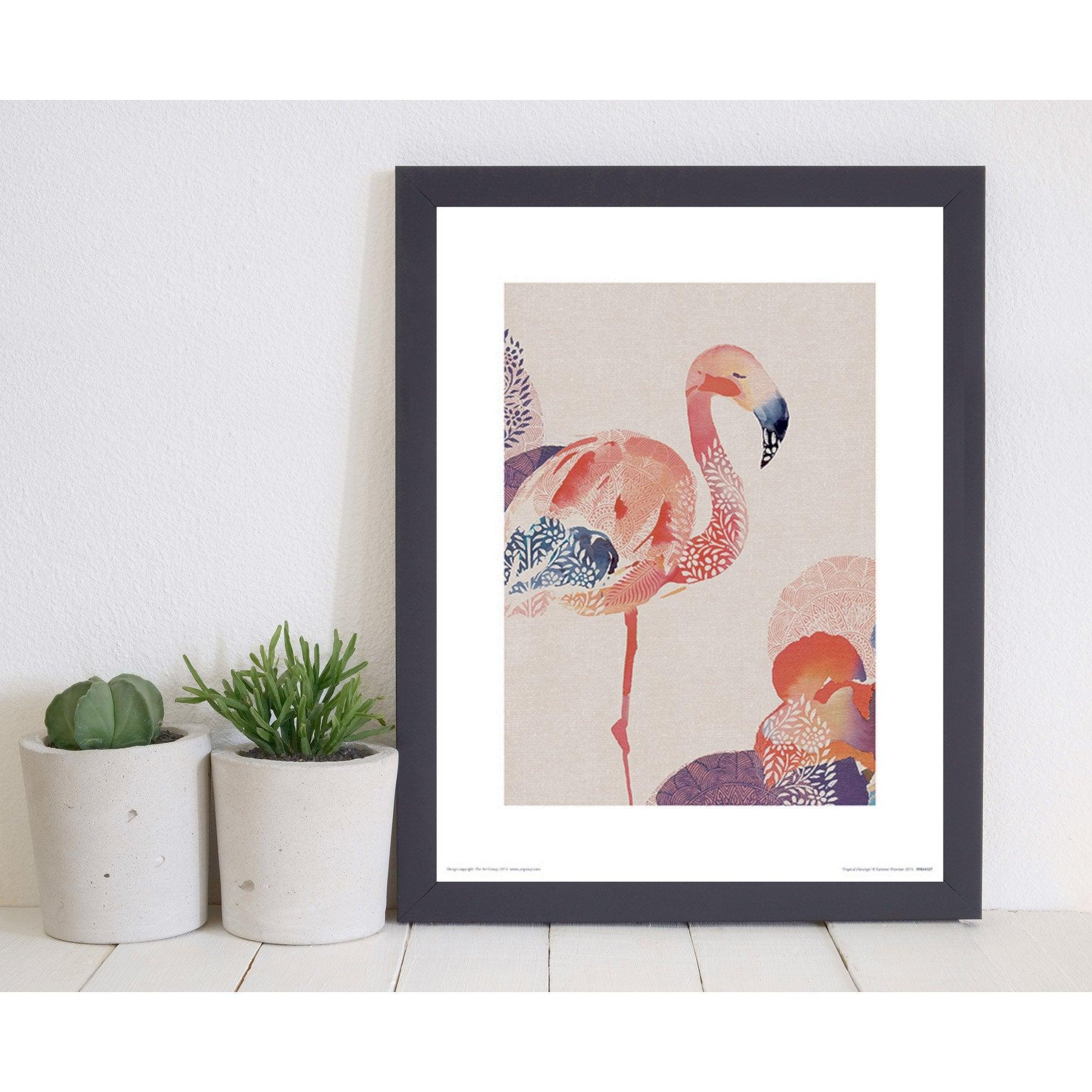 Affiche Tropical flamingos l.60 x H.80 cm