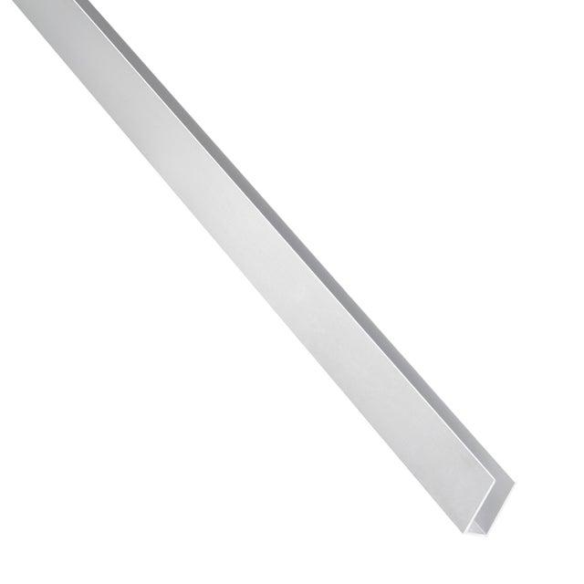 U Rectangulaire Aluminium Brut Argent L26 M X L23 Cm X H23 Cm