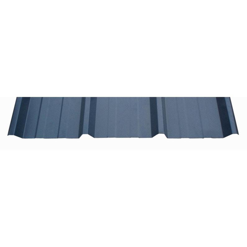Plaque Sur Mesure Nervurée Acier Galvanisé Bleu L 1 05 X L 1 M