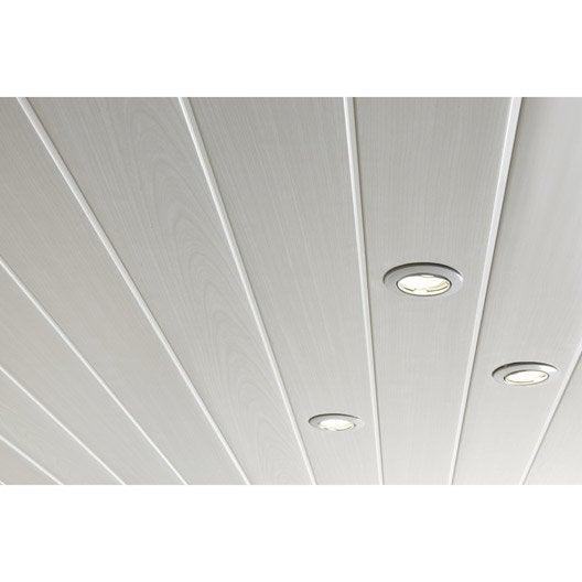 Lambris pvc blanc c rus artens x cm x ep 8 for Lambris pvc plafond 4 metres