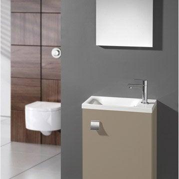 Meuble lave-mains avec miroir Gris doré n°5 Coin d'o