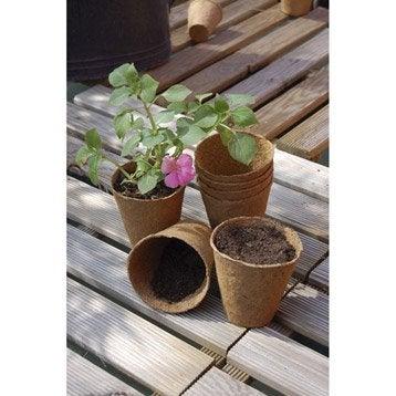 Lot de 18 pots ronds biodégradables NORTENE, 0 g/m², 0,008x0,0088x0,008 m