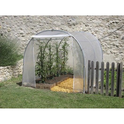 serre tunnel pouss vert pied droit x x. Black Bedroom Furniture Sets. Home Design Ideas