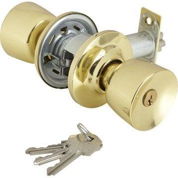 Serrure en applique THIRARD, axe 70 mm, à clé, ouverture à droite ou à gauche