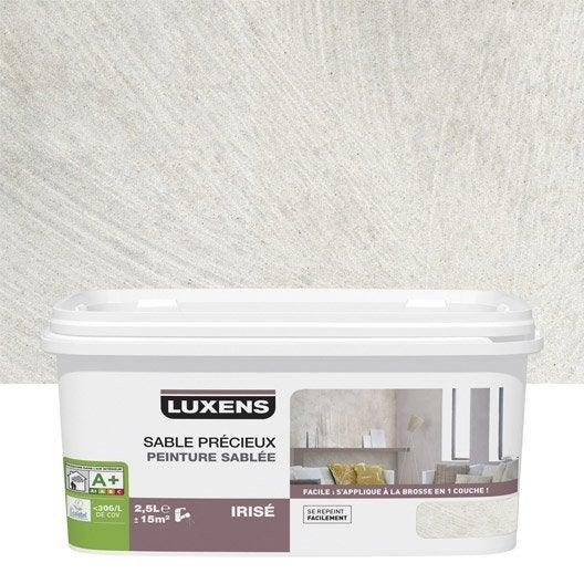 Peinture effet sable pr cieux luxens gris galet 6 2 5 l leroy merlin - Peinture blanc ivoire ...