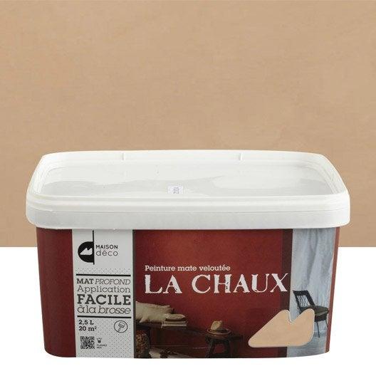 Peinture décorative, La chaux MAISON DECO, terre cuite, 2.5 l