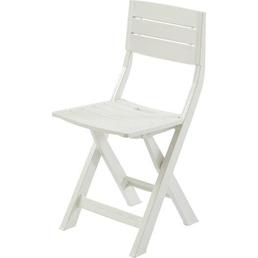Chaise de jardin en r sine inject e gilda blanc leroy merlin - Chaise de jardin en resine ...