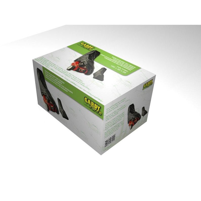 Housse Tondeuse En Polyester Noir Dimensions 185 X 59 X 68cm