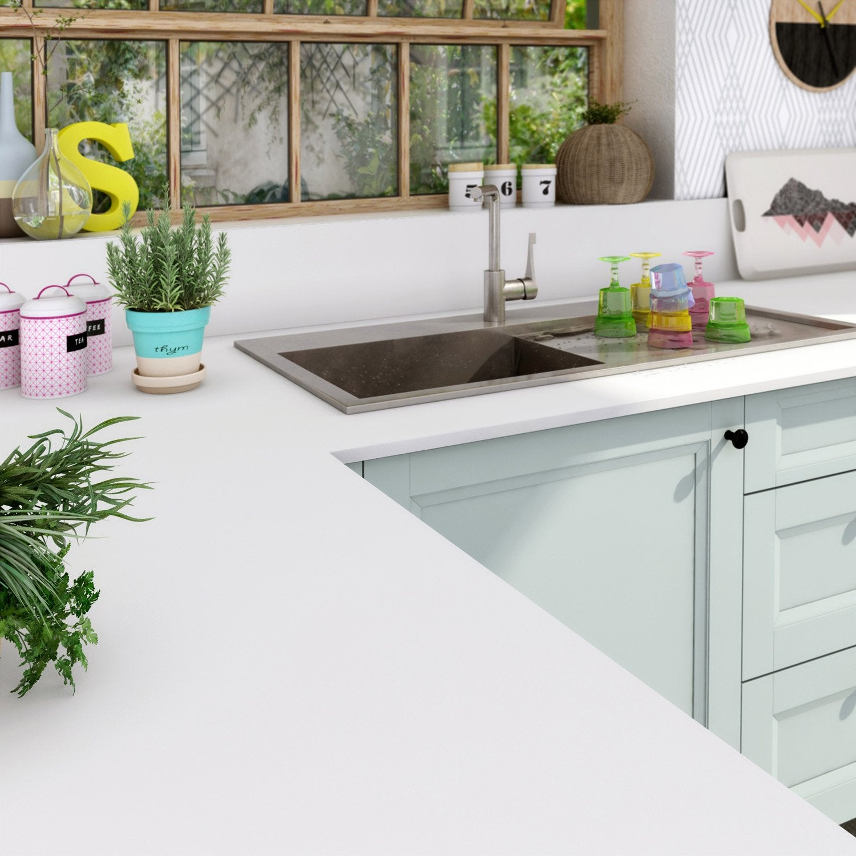 plan de travail mlamin good plan de travail blanc stratifi mm cuisine with plan de travail. Black Bedroom Furniture Sets. Home Design Ideas