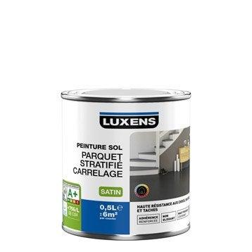 Peinture sol intérieur Haute résistance LUXENS, blanc blanc n°0, 0.5 l
