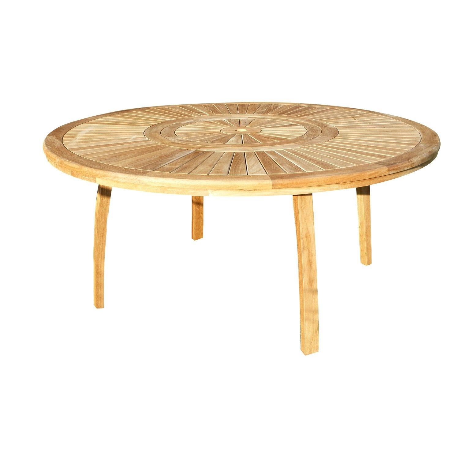 Table de jardin Orion ronde naturel 8 personnes | Leroy Merlin