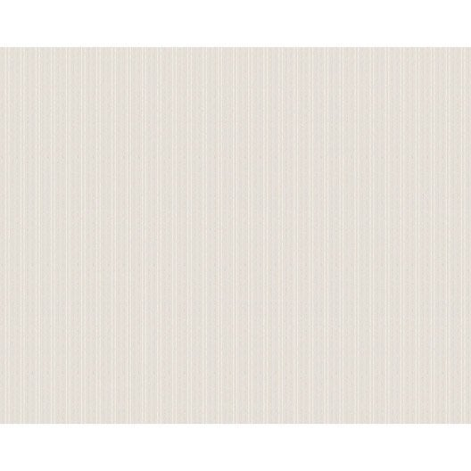 Papier peint rayure blanc intiss ap 2000 leroy merlin - Papier peint intisse blanc ...