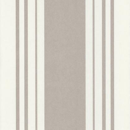 Papier Peint Rayure Matelas Blanc Gris Irise Intisse Shades Leroy