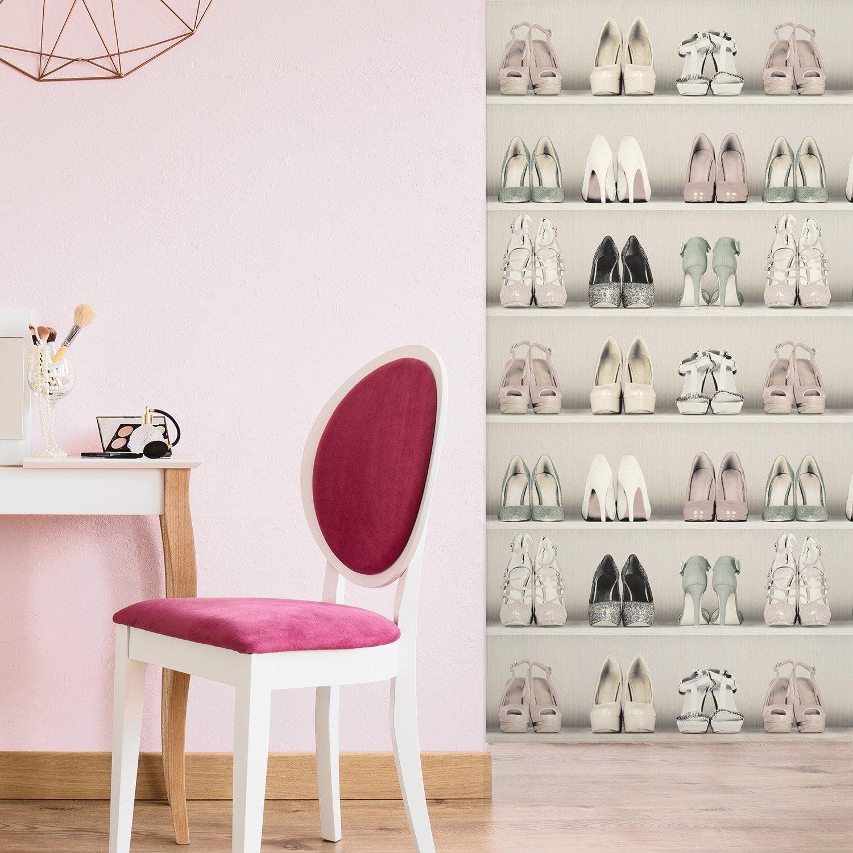 Peint Dressing De Intissé Papier Chaussure Beige 8nwP0kOX