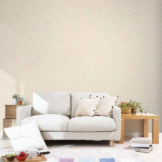 papier peint intiss pierre mica beige leroy merlin. Black Bedroom Furniture Sets. Home Design Ideas