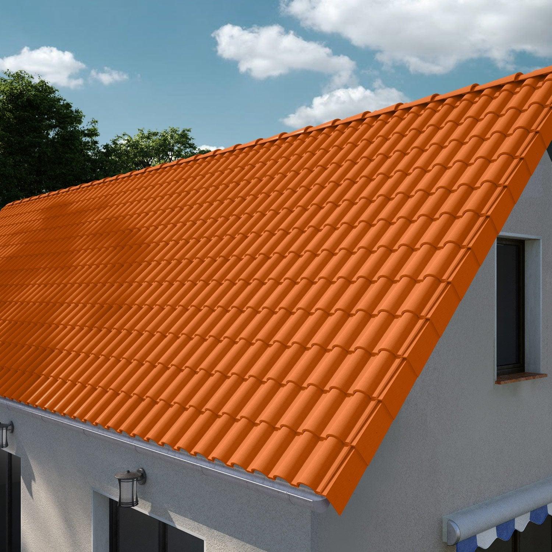 tuile imerys toiture rouge romane sans leroy merlin. Black Bedroom Furniture Sets. Home Design Ideas