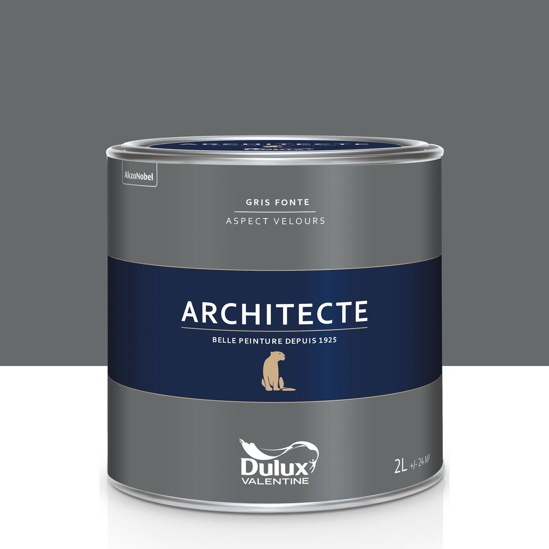 peinture gris fonte velours dulux valentine architecte 2 l leroy merlin. Black Bedroom Furniture Sets. Home Design Ideas