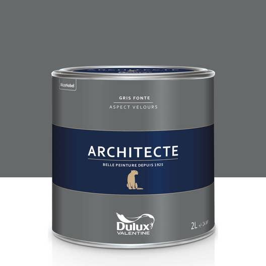peinture gris fonte velours dulux valentine architecte 2 l. Black Bedroom Furniture Sets. Home Design Ideas