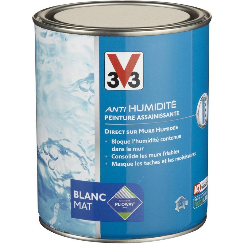 Peinture Antihumidite Assainissante V33 Blanc Mat 1 L Leroy Merlin