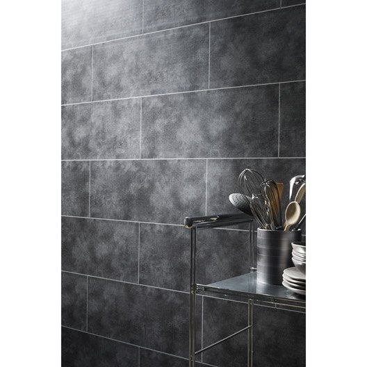 Lambris pvc gris dumalock x - Pvc salle de bain leroy merlin ...