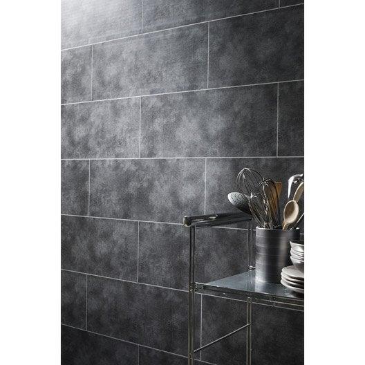 Lambris PVC béton gris clair DUMAPLAST Dumalock L.120 x l.25 cm x Ep
