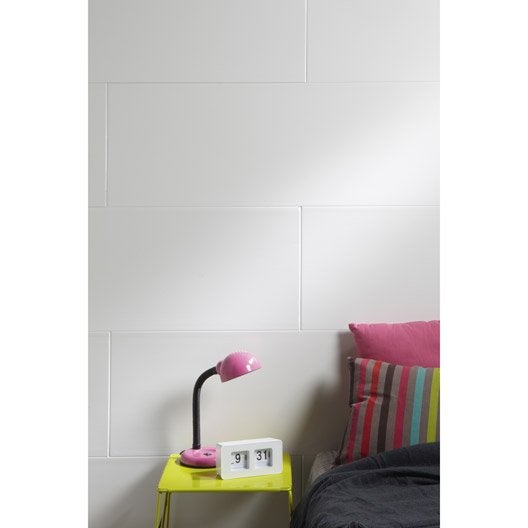 lambris pvc blanc artens artclip x cm x ep 8 mm leroy merlin. Black Bedroom Furniture Sets. Home Design Ideas