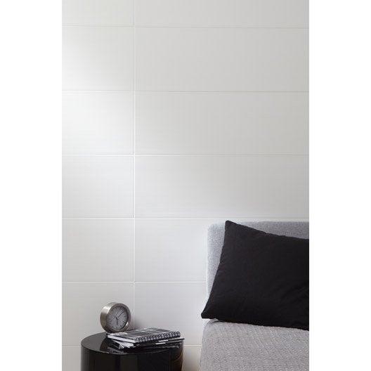 lambris pvc blanc artens artclip x cm x mm leroy merlin. Black Bedroom Furniture Sets. Home Design Ideas
