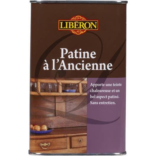 Patine meuble et objets patine a l ancienne liberon 0 5 l bois fonc leroy merlin - Meuble bois patine ...