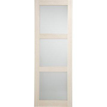 Porte coulissante Paulownia plaqué Bowen, 204 x 73 cm