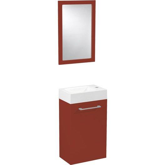 Meuble lave mains lave mains et meuble au meilleur prix for Miroir rouge