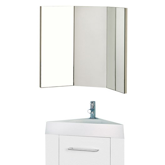 meuble lave mains avec miroir sensea remix blanc blanc n. Black Bedroom Furniture Sets. Home Design Ideas