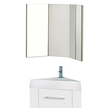 Meuble lave-mains avec miroir Blanc-Blanc n°0, SENSEA Remix