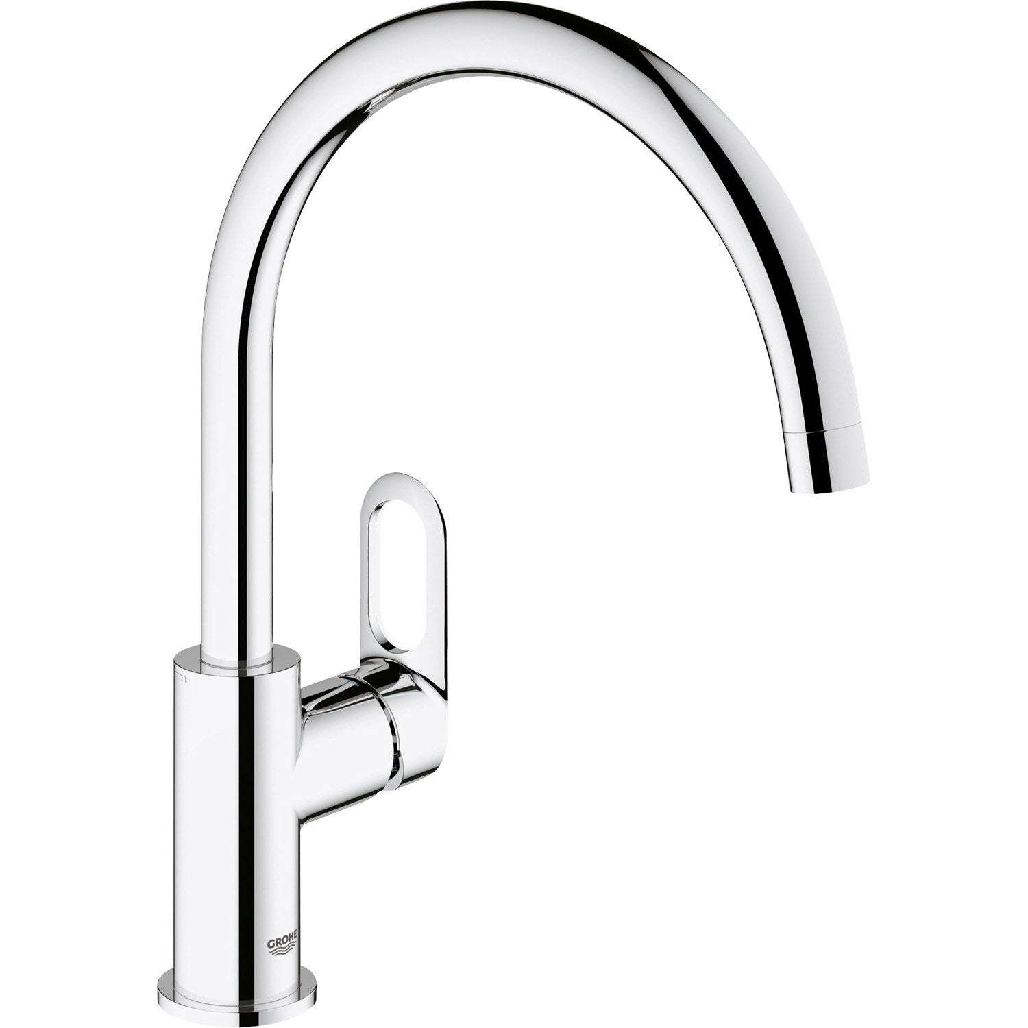 Mitigeur De Cuisine Chrome Grohe Start Loop Leroy Merlin