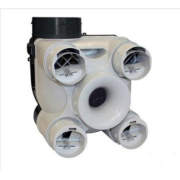 Caisson seul VMC simple flux auto-réglable Design S&P