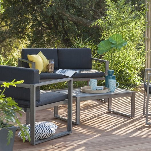 salon de jardin aluwood naterial leroy merlin. Black Bedroom Furniture Sets. Home Design Ideas