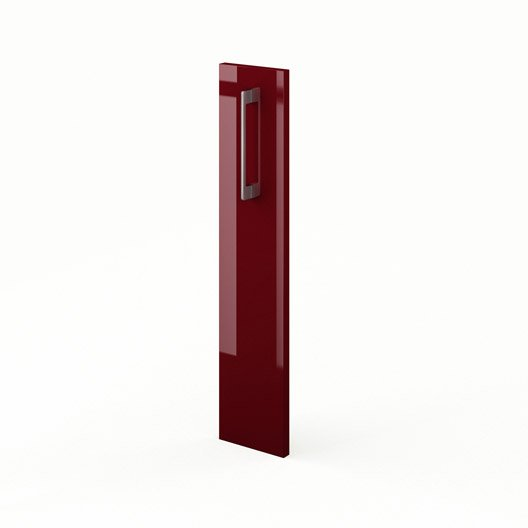 porte de cuisine rouge griotte l15 x h70 cm leroy merlin