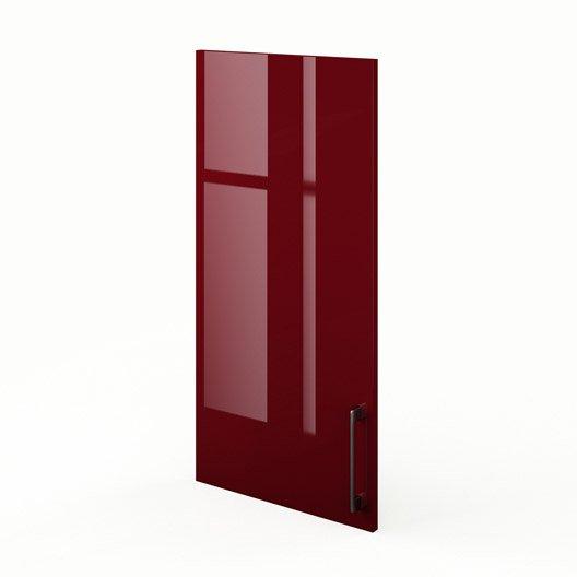 porte de cuisine rouge griotte l45 x h92 cm leroy merlin