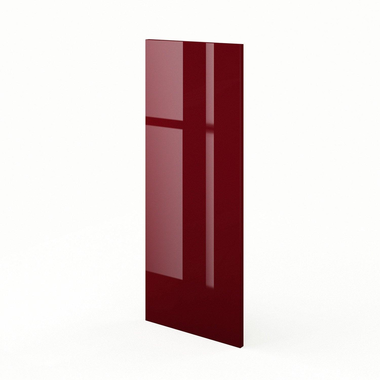 Joue Meuble Haut De Cuisine Rouge Griotte L 37 X H 92 Cm Leroy  # Meuble Haut Angle
