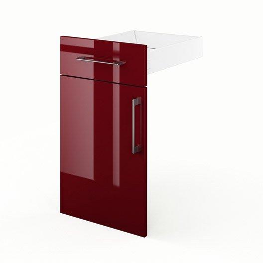 porte et tiroir de cuisine rouge griotte x x p