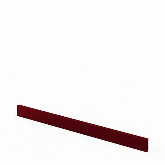 bandeau four de cuisine rouge o90 6 5 griotte l90 x h6 5 cm leroy merlin. Black Bedroom Furniture Sets. Home Design Ideas
