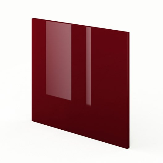 Porte Lave-Vaisselle De Cuisine Rouge Griotte, L.60 X H.55 Cm