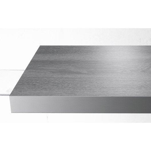 Plan de travail stratifié Effet bois argent Mat L.315 x P.65 cm l.65 cm, Ep.38 m
