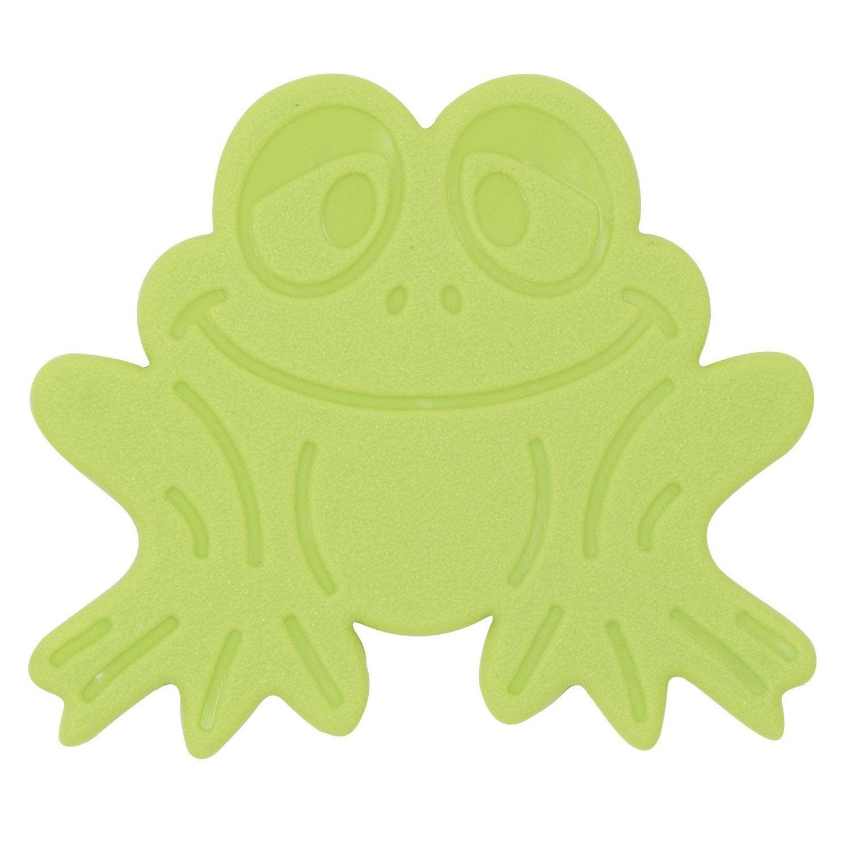 tapis antidrapant vert pour baignoire douche grenouilles - Tapis Baignoire
